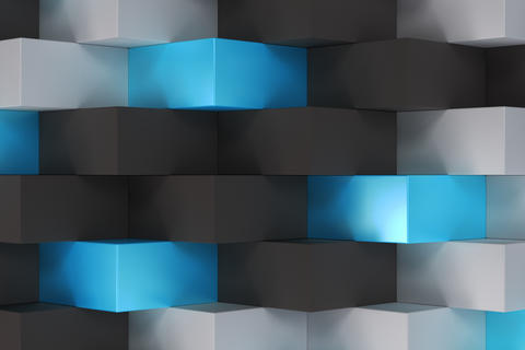 Pattern with black, white and blue rectangular shapes Photo