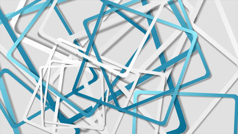 Blue and grey abstract squares geometric video animation Animation