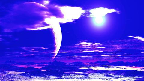 Surrealistic Alien Sunset Animation