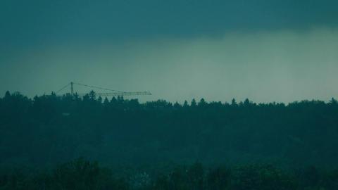 Moving heavy rain storm Image
