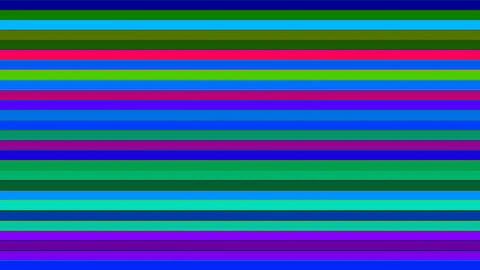 Broadcast Twinkling Horizontal Hi-Tech Bars, Multi Color, Abstract, Loopable, 4K Animation