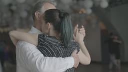 Romance. A couple is dancing tango. Apple ProRes 422 HQ. Slow motion Footage