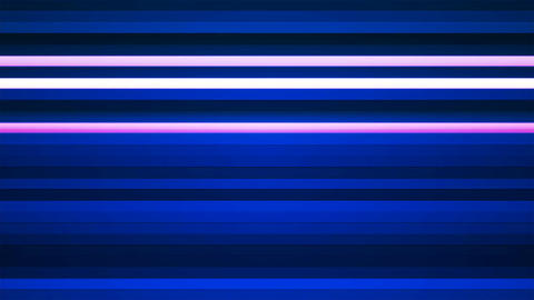 Broadcast Twinkling Horizontal Hi-Tech Bars, Blue, Abstract, Loopable, 4K Animation