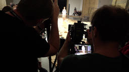 Photographers and cameramen are working on fashion show Footage
