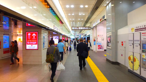 Station yard of Tokyo station in Japan Stock Video Footage