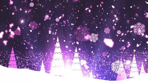 Christmas Tree Snowflakes 4 Animation