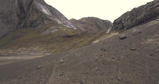 Epic mountain range in Norway Lofoten Footage