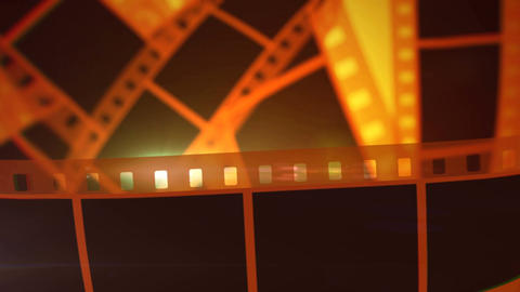 Movie Making Film Tape Rolls Animation