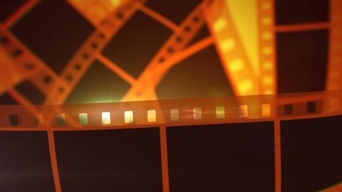 Movie Making Film Tape Rolls Animation