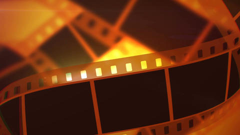 Rolls of Movie Making Film Tape Animación