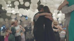 Romance. People dance tango. Apple ProRes 422 HQ Footage