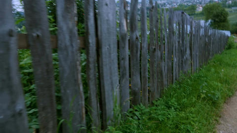 Wooden fence Footage