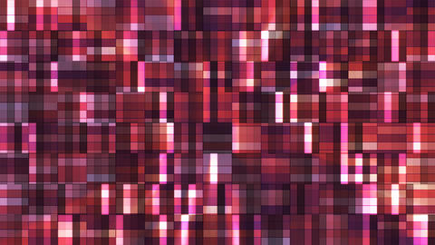 Broadcast Twinkling Squared Hi-Tech Blocks, Maroon, Abstract, Loopable, 4K Animation