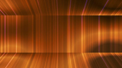 Broadcast Vertical Hi-Tech Lines Passage, Golden, Abstract, Loopable, 4K Animation