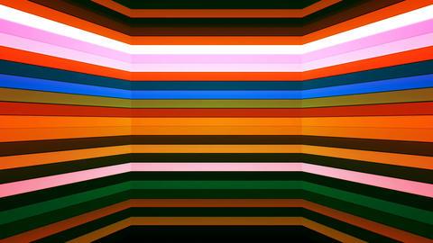 Broadcast Twinkling Horizontal Hi-Tech Bars Shaft, Multi Color, Abstract, Animation