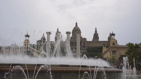 Barcelona, Spain Magic Fountain of Montjuïc day view Archivo