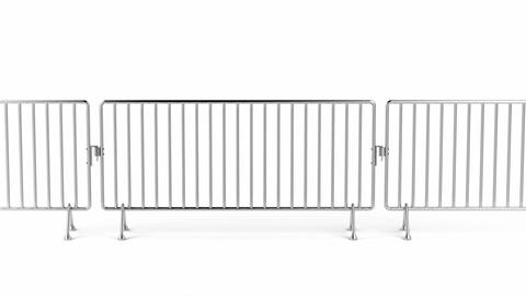 Crowd control fence Animation