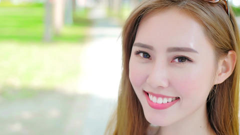 beauty woman smile Stock Video Footage