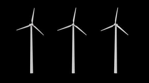 wind power plant with an alpha channel Animation