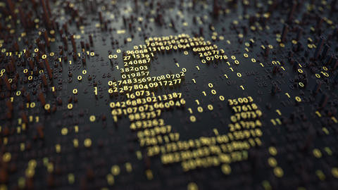 Euro EUR symbol made of golden numbers 영상물