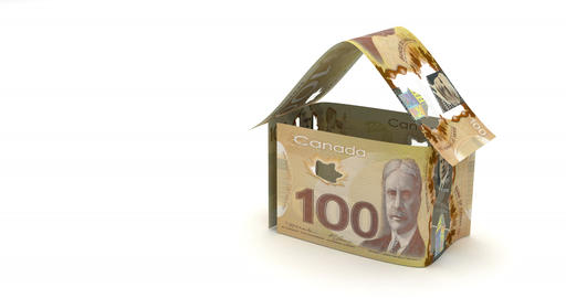 Real Estate Canadian Dollar Animation