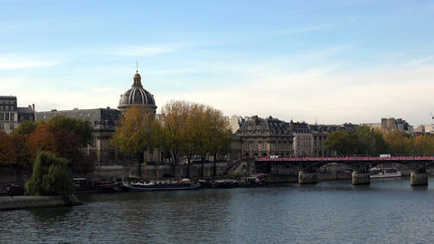 The River Seine in Paris. France Footage