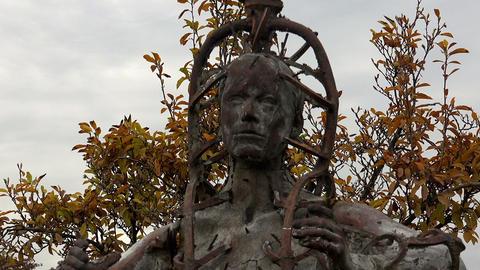 The monument, a sculpture in Paris. France Live Action
