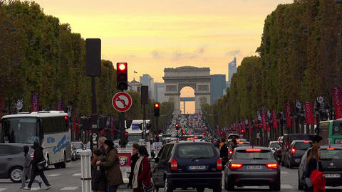Arc de Triomphe in Paris. France Footage