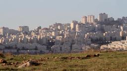 North Jerusalem Arab neighborhood Footage
