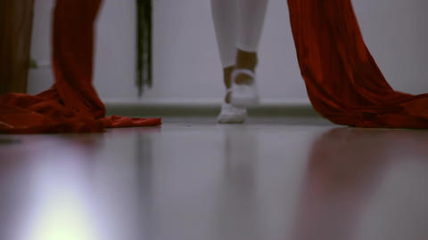 Legs of a dancing girl in the gym Footage
