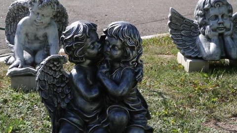 Garden figures angels Footage