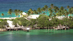 Bahamas Nassau private estate on Paradise Island seen from New Providence Footage