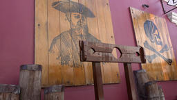 Bahamas Nassau pillory of the pirates in front of the museum Archivo
