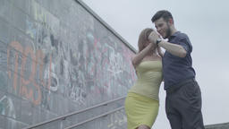Couple: A guy and a girl are dancing tango Footage