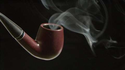 Tobacco pipe close up Live Action