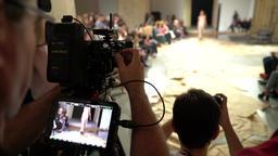 Press zone on fashion show Footage