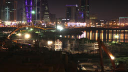 Construction Site in Manama Timelapse at Dusk City Skyline on the background -1 Footage