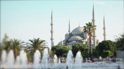 Timelapse Blue Mosque with tourists- Defocus ビデオ