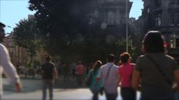 Traffic and people in Istanbul Timelapse - Defocus Footage