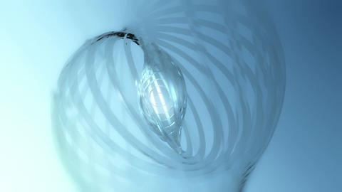 Cirglas - Glass-like 3D Rings Video Background Loop Animation
