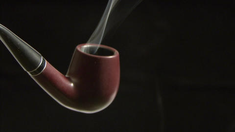 Tobacco pipe close up Footage