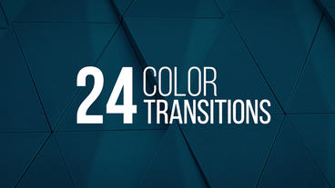 24 Color Transitions PR模板