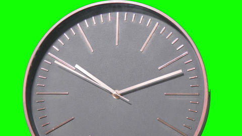 Modern Clock Face Fast Time Lapse on Green Screen Live Action