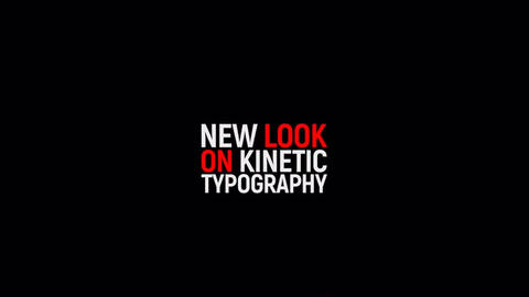 Kinetic Typography 2 After Effects Template