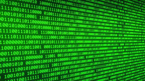 Binary Digital Moving through glowing binary walls random numbers background.2 Animation