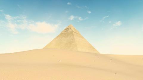 Great Pyramid of Khafre at Giza, Egypt Footage