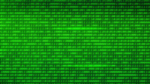 Binary Digital Moving through glowing binary walls random numbers background Animation