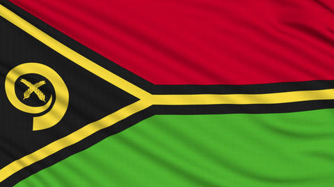 Vanuatu Flag, with real structure of a fabric Animation