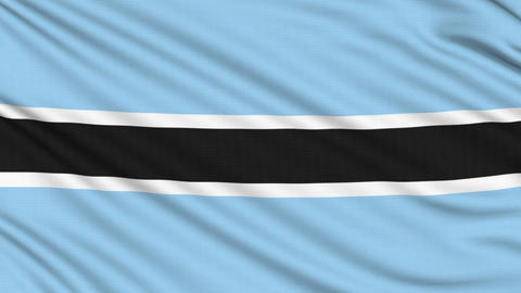 Botswana Flag, with real structure of a fabric Animation