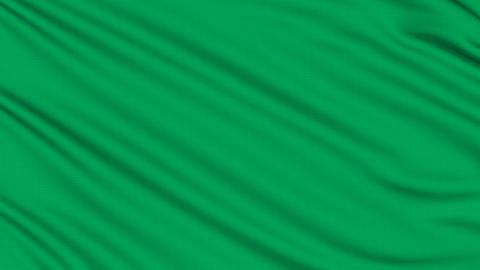 Libyan flag, with real structure of a fabric Animation
